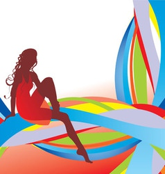 stripes girl vector image vector image