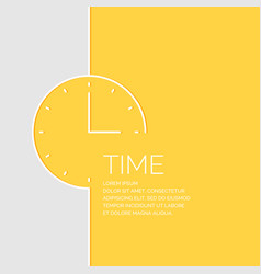 time in a linear style vector image