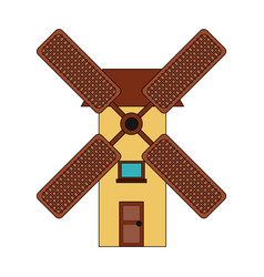 windmill farm symbol vector image