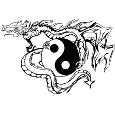 Yinyang dragon vector