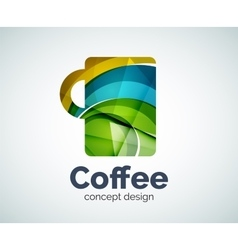Coffee cup logo template vector