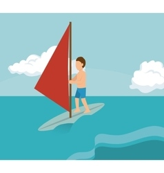 Extreme sports design isolated vector