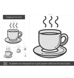Cappuccino line icon vector