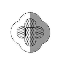 Isolated medical bandage design vector