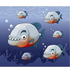 Piranha in river vector