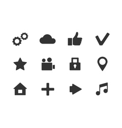 Apps icon set over white background vector