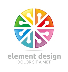 Logo colorful element design symbol icon vector