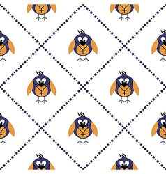 Pattern with animals cute symmetrical background vector