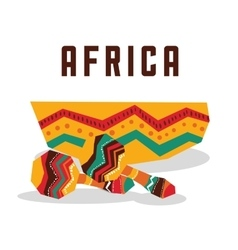 Africa design maracas instrument icon vector