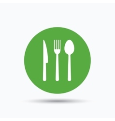 Fork knife and spoon icons cutlery sign vector