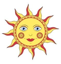 abstract cartoon sun vector image