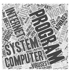 Adware spyware uninstall word cloud concept vector