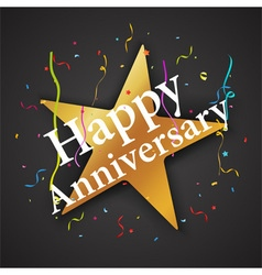 anniversary celebration with star vector image