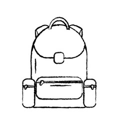 backpack school icon image vector image