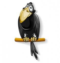 black crow vector image vector image