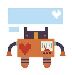 Card design with retro robot vector
