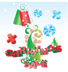 christmas tree sale image vector image vector image