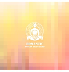Colorful soft romantic background vector image vector image