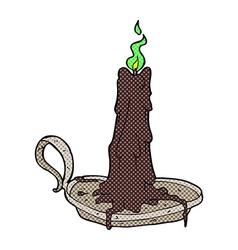Comic cartoon spooky dribbling candle vector