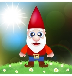 Cute Cartoon Garden Gnomes vector image
