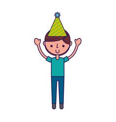 cute party boy cartoon vector image