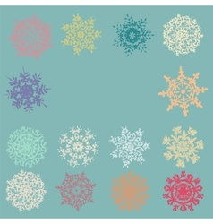 Cute Retro Snowflakes EPS 8 vector image