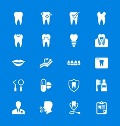 Dental flat icons vector image vector image