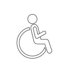 Figure person sitting in wheelchair icon vector