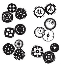 Gear and cogwheel set vector image vector image