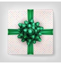 Green Christmas present EPS 10 vector image vector image