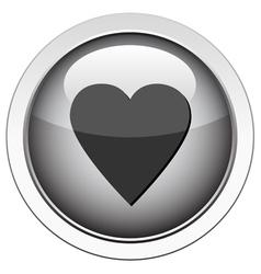 heart follow icon vector image vector image