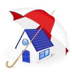 House under an umbrella vector image