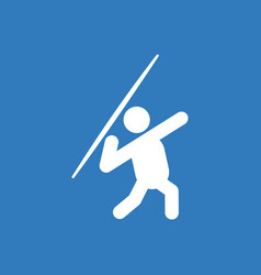 Javelin throwing athlete man - vector
