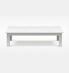 Modern white table exhibition presentation desk vector