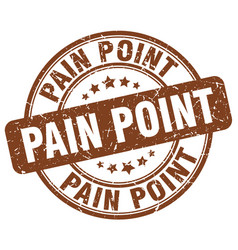 Pain point brown grunge stamp vector