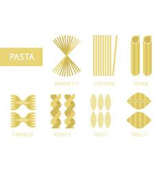 Pasta set vector