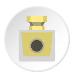 Perfume bottle icon circle vector