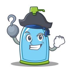 Pirate liquid soap character cartoon vector