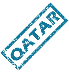 Qatar rubber stamp vector image vector image