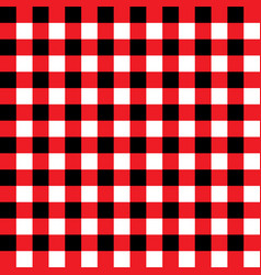red and black plaid fabric pattern vector image