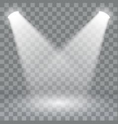 spotlights scene light effects stage light vector image vector image