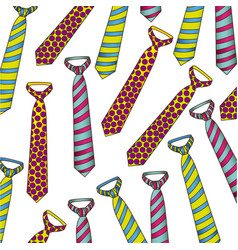 Tie design background icon vector