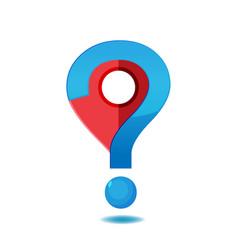 navigator checkin question symbol logo vector image