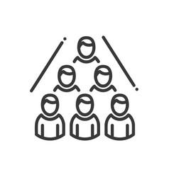 business network- modern line design vector image