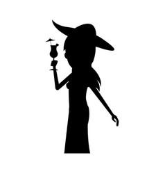 young pretty woman cartoon icon image vector image