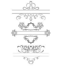 Calligraphic set vector