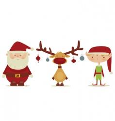 Christmas trio vector image