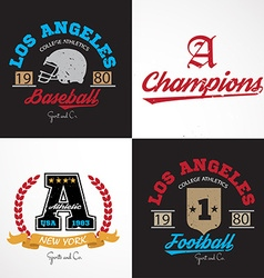 American sporting design elements vector