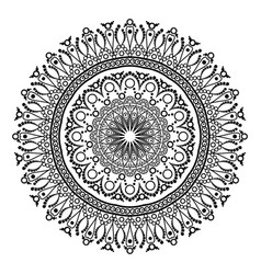 Ornament black white card with mandala ornamental vector
