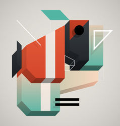 3d abstraction vector image